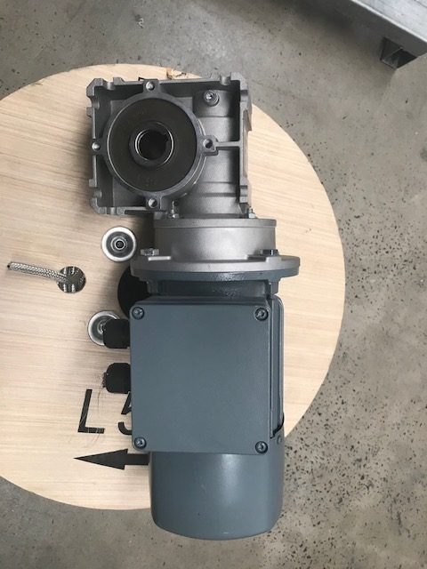 0.75kW 3 Phase Braked Motor with Nord 15:1 Gearbox